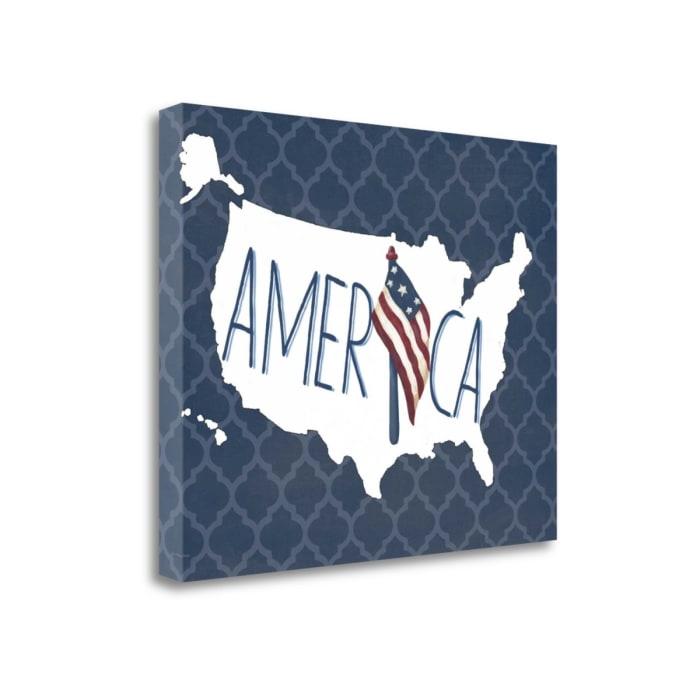 America By Jo Moulton Wrapped Canvas Wall Art