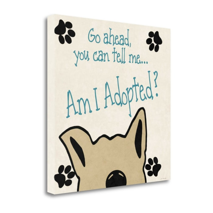 Adopted By Jo Moulton Wrapped Canvas Wall Art