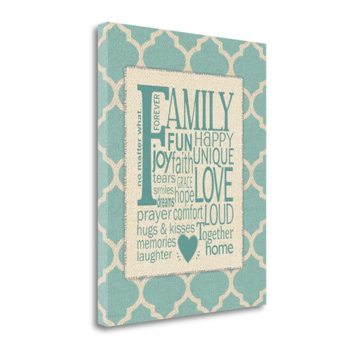 Family Subway - Linen By Jo Moulton Wrapped Canvas Wall Art