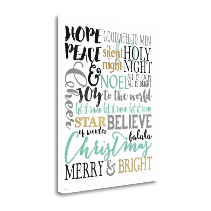 Merry and Bright Subway II By Jo Moulton Wrapped Canvas Wall Art