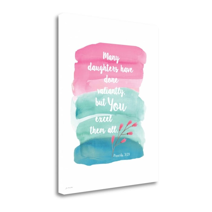 Daughter By Jo Moulton Wrapped Canvas Wall Art