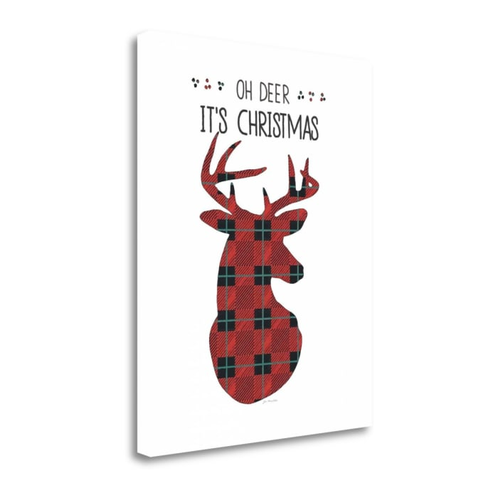 Oh Deer Its Christmas By Jo Moulton Wrapped Canvas Wall Art
