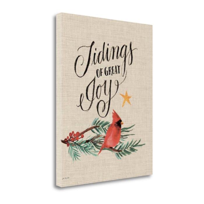 Tidings Of Great Joy By Jo Moulton Wrapped Canvas Wall Art