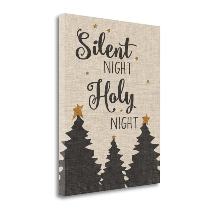 Silent Night - Linen By Jo Moulton Wrapped Canvas Wall Art
