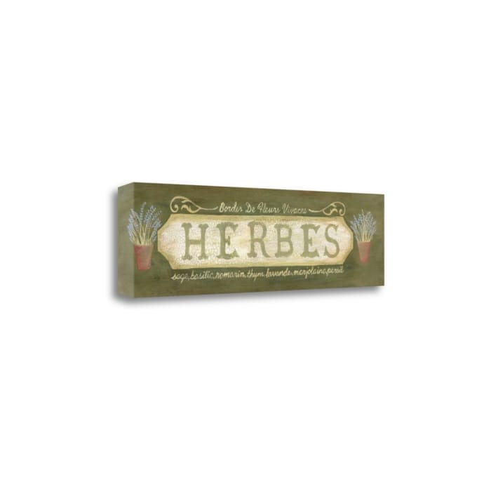 Herbs By Jo Moulton Wrapped  Canvas Wall Art