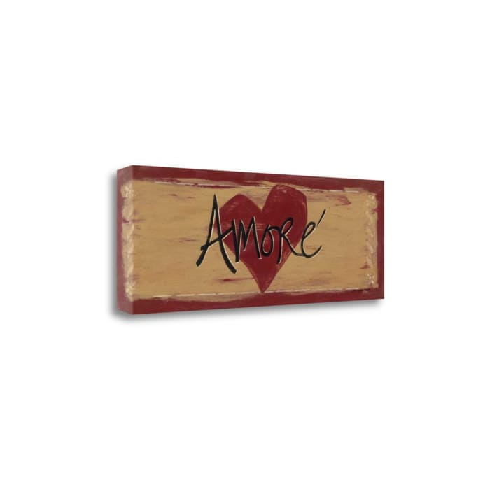 Amore By Jo Moulton Wrapped Canvas Wall Art