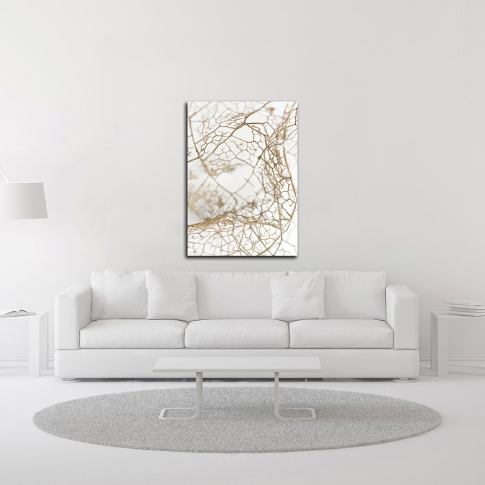 Leaf Skeleton by Design Fabrikken Wrapped Canvas Wall Art