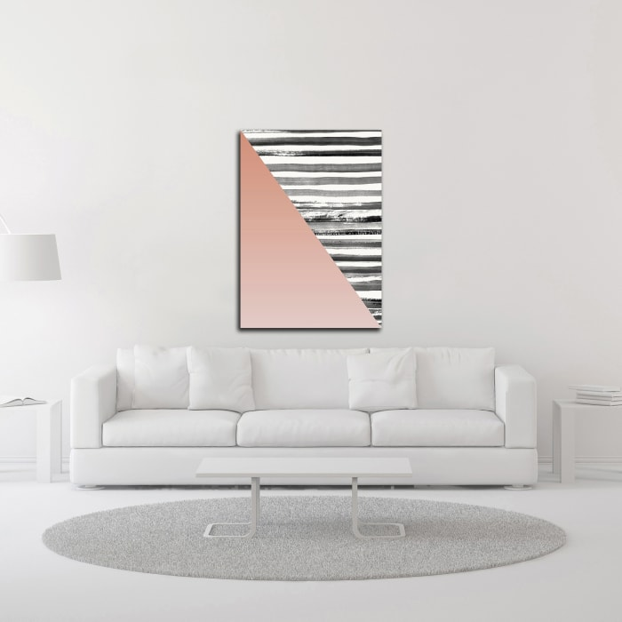 Triangle 1 by Design Fabrikken Wrapped Canvas Wall Art