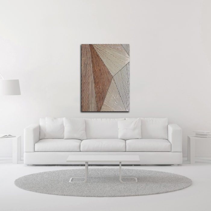 Wooden Structure by Design Fabrikken Wrapped Canvas Wall Art