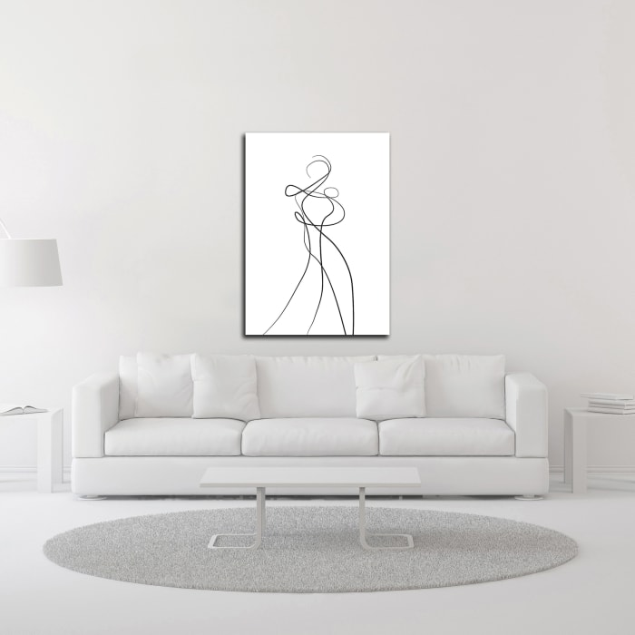 Shape of You 2 by Design Fabrikken Wrapped Canvas Wall Art
