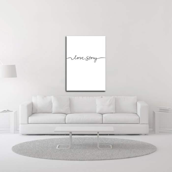 Love Story by Design Fabrikken Wrapped Canvas Wall Art