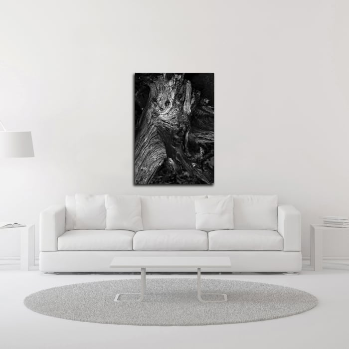 Black Wood by Design Fabrikken Wrapped Canvas Wall Art