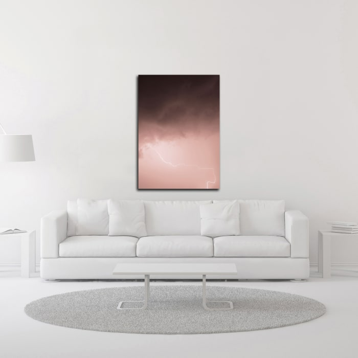 Lightning Pink by Design Fabrikken Wrapped Canvas Wall Art