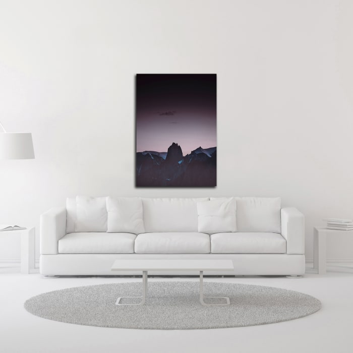 Purple Light 1 by Design Fabrikken Wrapped Canvas Wall Art