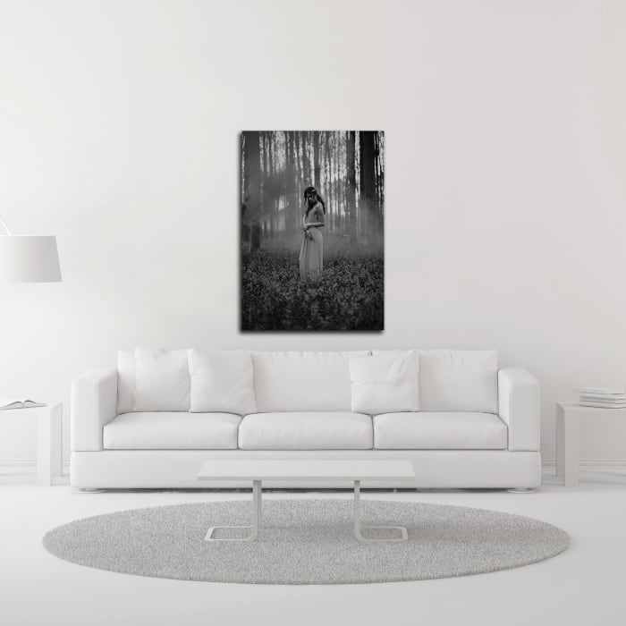 Girl in the Woods by Design Fabrikken Wrapped Canvas Wall Art