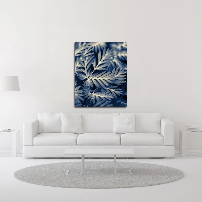 Navy Blue Leaves by Brooke T. Ryan Wrapped Canvas Wall Art