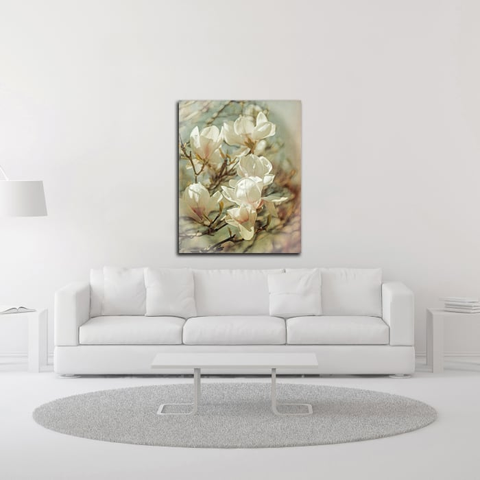 Vintage Inspired Magnolias by Brooke T. Ryan Wrapped Canvas Wall Art