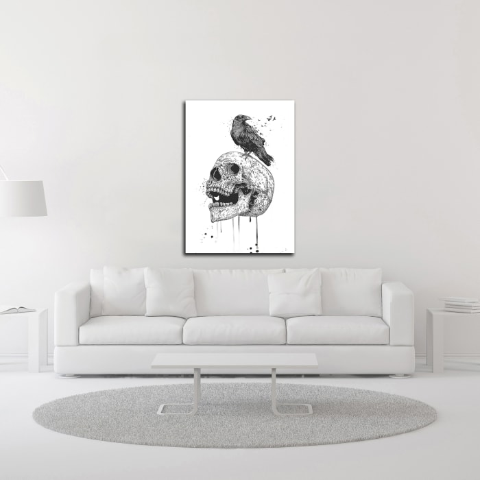 New Skull by Balazs Solti Wrapped Canvas Wall Art