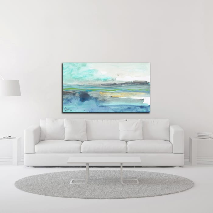 Tempestuous Sea by Jan Weiss Wrapped Canvas Wall Art