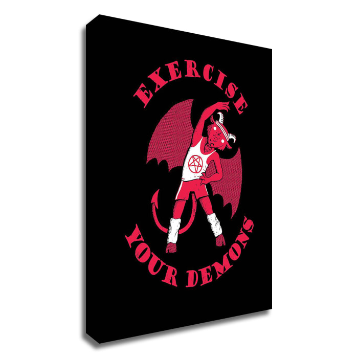 Exercise Your Demons by Michael Buxton Wrapped Canvas Wall Art