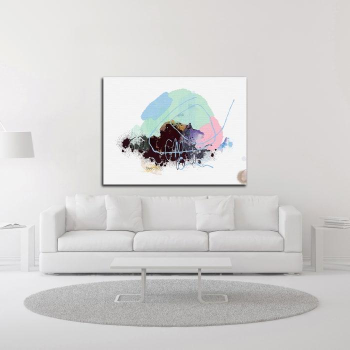 Eggplant Abstract by Niya Christine Wrapped Canvas Wall Art
