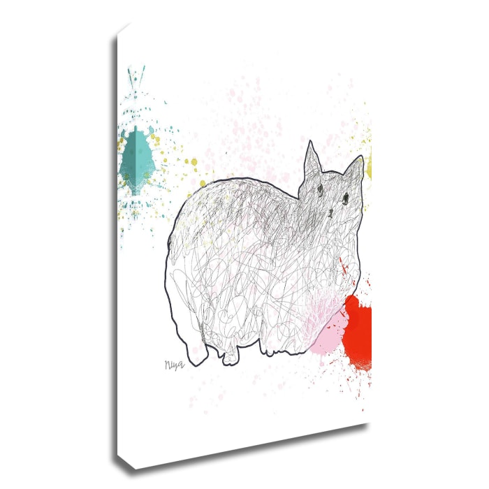 Kitty in Repose by Niya Christine Wrapped Canvas Wall Art