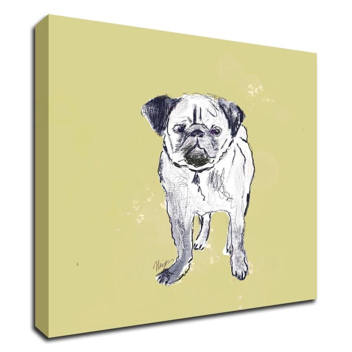 Super Cute Pug by Niya Christine Wrapped Canvas Wall Art