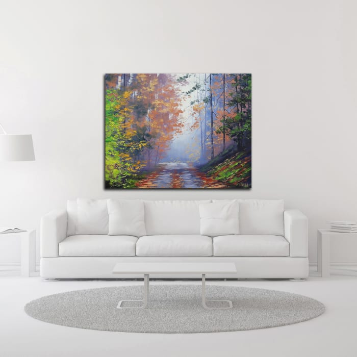 Autumn Forest by Graham Gercken Wrapped Canvas Wall Art