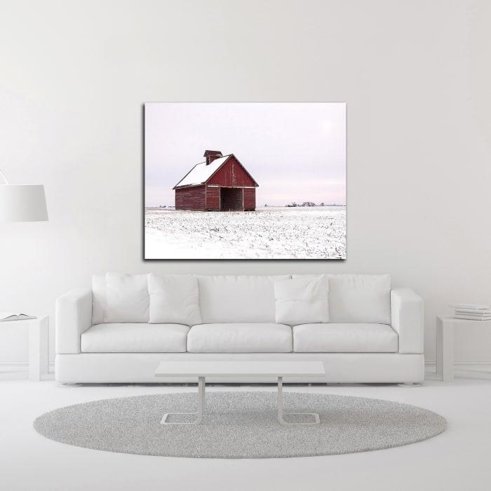 Central Illinois Barn by David Hammond Wrapped Canvas Wall Art