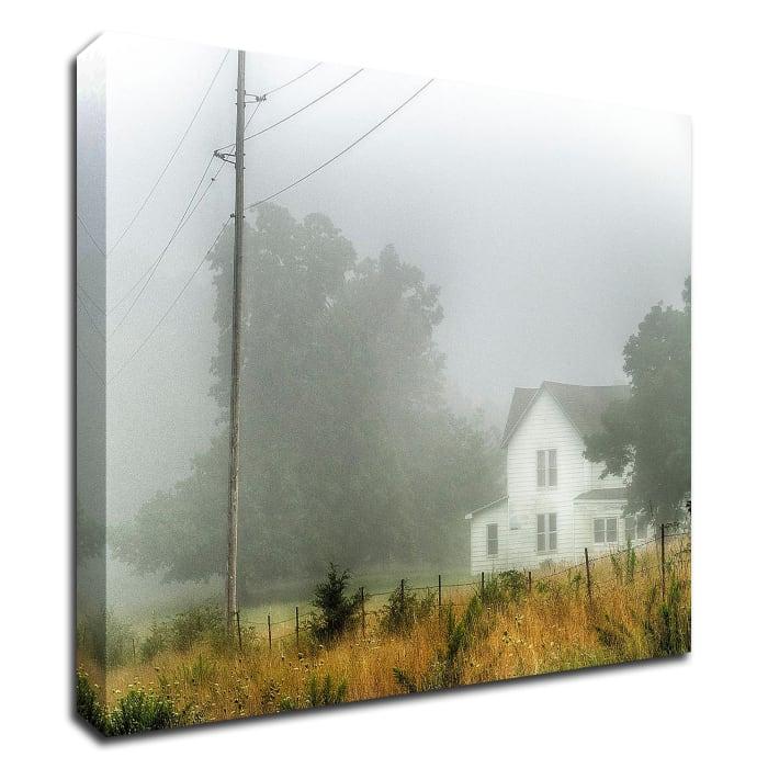 Fog House by David Hammond Wrapped Canvas Wall Art