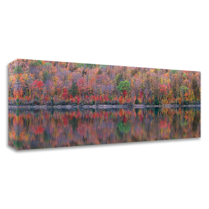 Upson Lake Reflection by Jim Becia Wrapped Canvas Wall Art