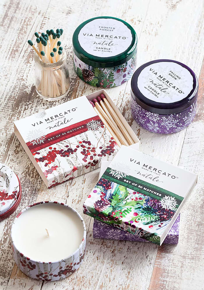 Via Mercato Natale Frosted Forest Scented Matches