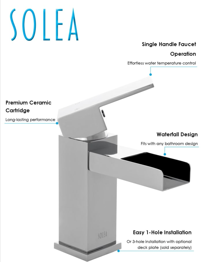 Calm Chrome Brass Single Handle 6 Inch Bathroom Vessel Faucet