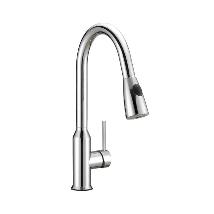 Prosper Chrome Brass Single Control Dual Function Spray Pull Down Kitchen Faucet