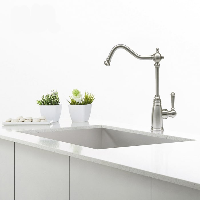 Serene Chrome Brushed Nickel Single Handle Drinking Water Faucet