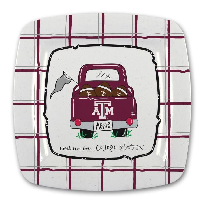 Texas A & M Melamine Platter