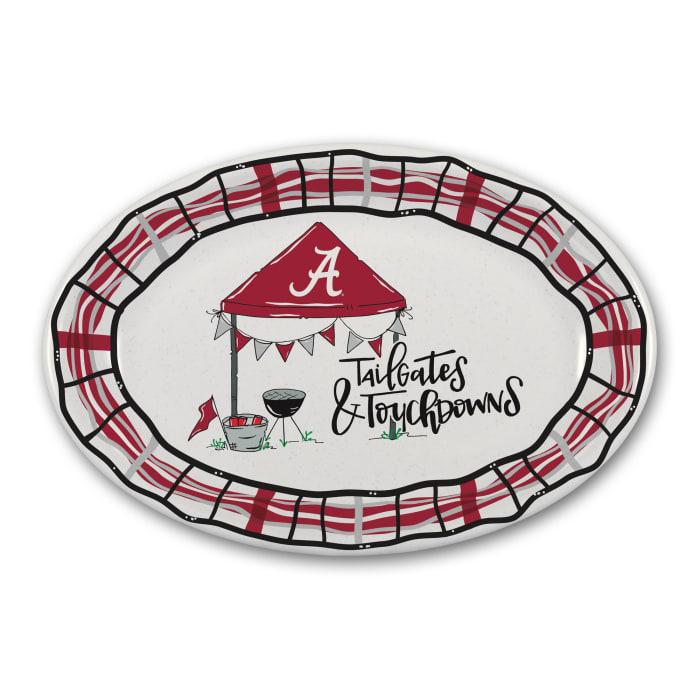 Alabama Tailgates and Touchdowns Melamine Platter