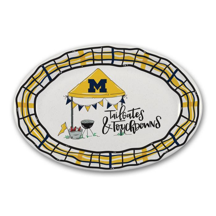 Michigan Tailgates and Touchdowns Melamine Platter