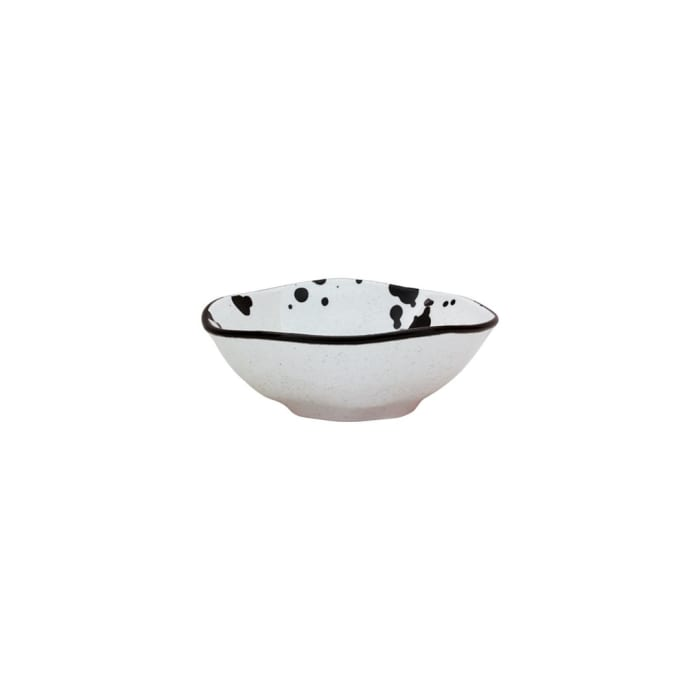 RYO 6 Piece Black and White Dinner Soup Bowl Set