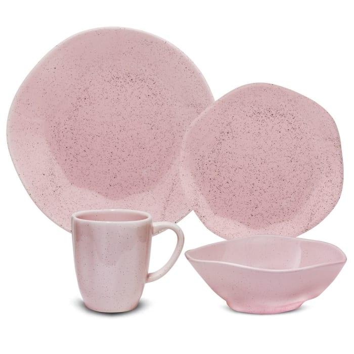 RYO 16 Piece Pink Dinnerware Set
