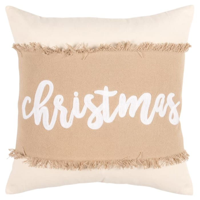 Christmas Natural Cotton Poly Filled Pillow