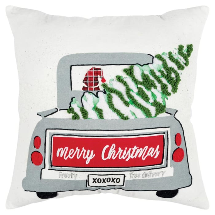 Christmas Frosty Tree Delivery Filled Pillow