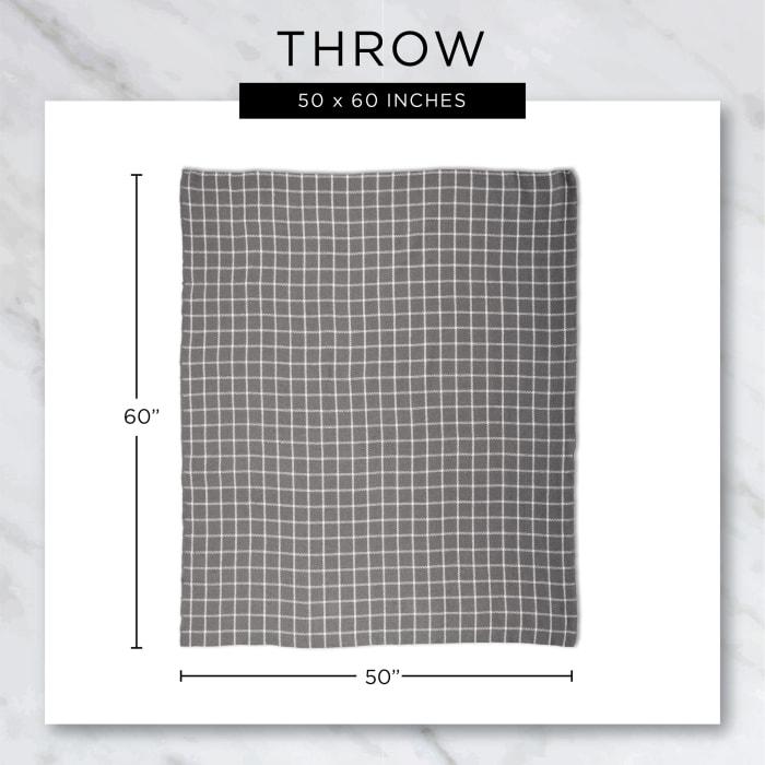 Gray Chevron Plush Throw