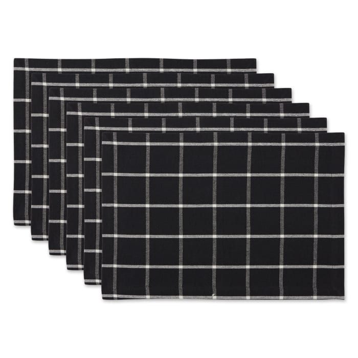 Black Check Set of 6 Placemats