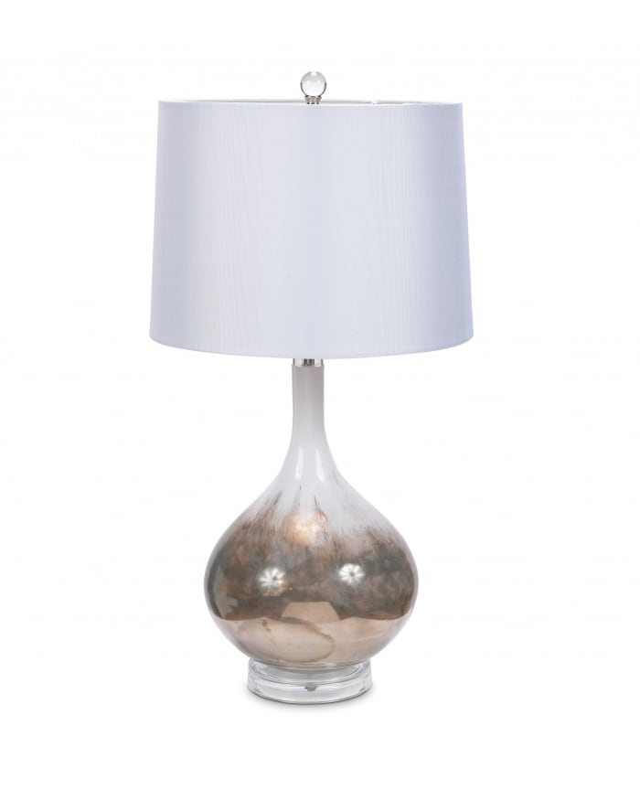 Art Glass Set Of 2 Table Lamps