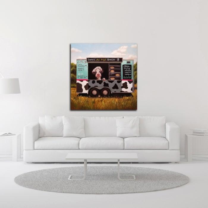 Cowpies by Lucia Heffernan Wrapped Canvas Wall Art