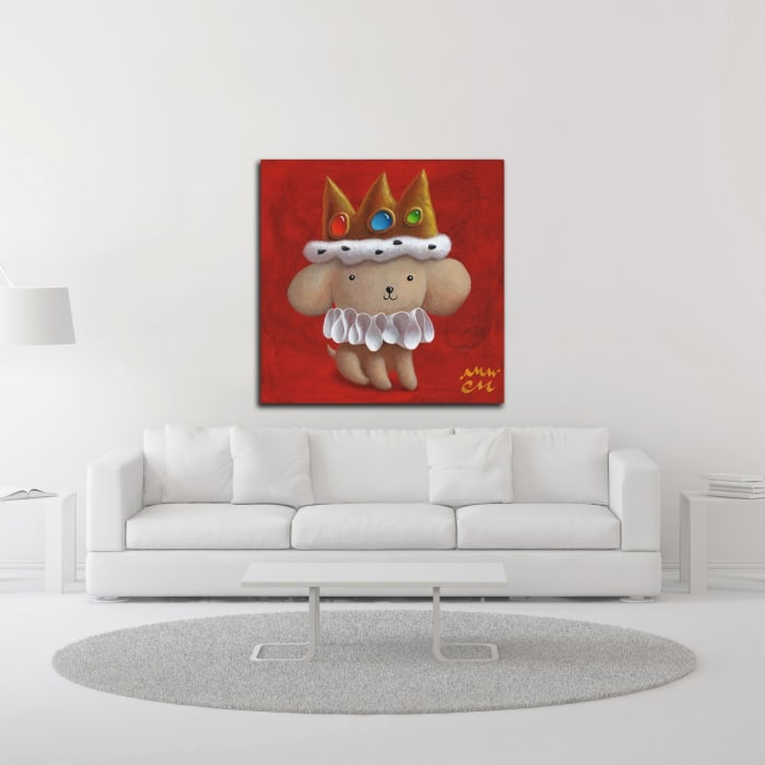Royal Pup by Chris Miles Wrapped Canvas Wall Art