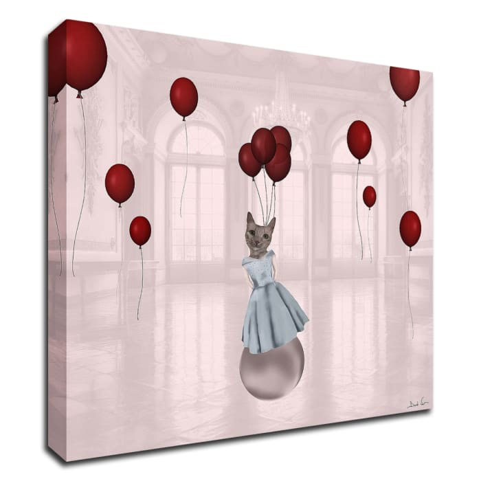 Ball with Balloons by Daniela Nocito Wrapped Canvas Wall Art
