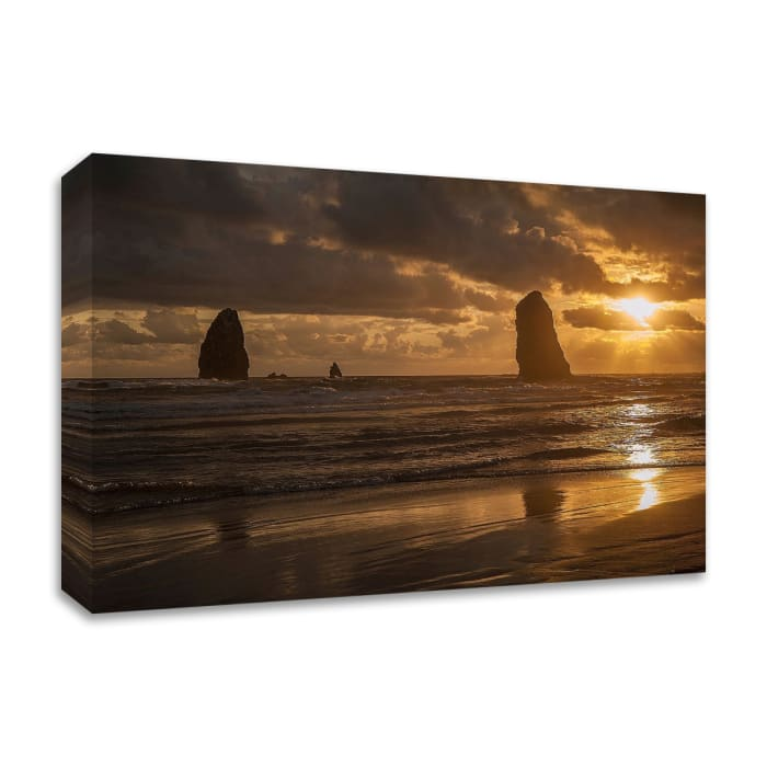 Monolith Sunset by Tim Oldford Wrapped Canvas Wall Art