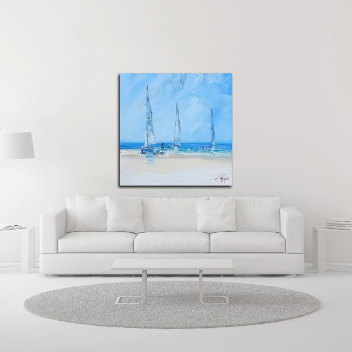 Aspendale Sails 2 by Craig Trewin Penny Wrapped Canvas Wall Art